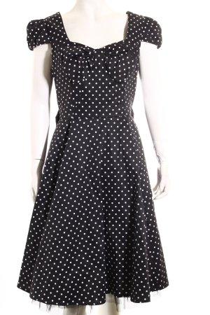 Hearts & Roses Petticoat Dress black-white spot pattern '60s style