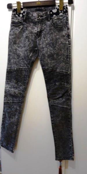 Biker jeans grijs-lichtgrijs