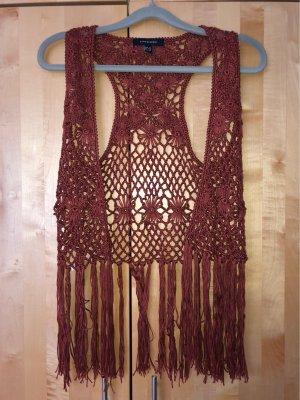 Short Sleeve Knitted Jacket bordeaux