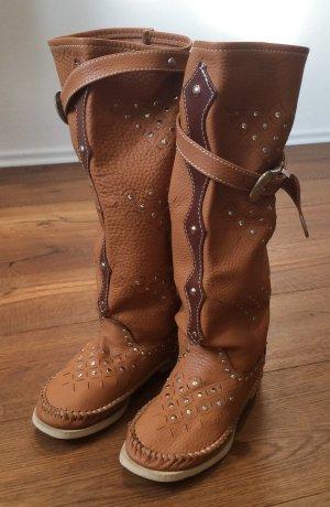 Hector Riccione Leder Boots Stiefeln