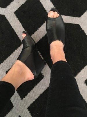 Heels Schuhe Absatz hoch Kunstleder 38 chic Fashion Keilabsatz Asos Wedges