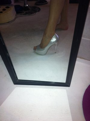 High Heels silver-colored