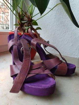 Heels von BRONX mit Riemchen für den Frühling/Sommer * lila * 38