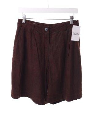Heidemann High-Waist-Shorts dunkelbraun Maskulin-Look