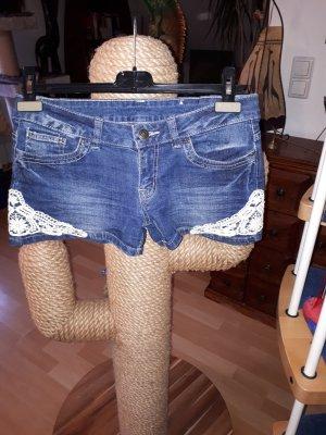Heidi klein Pantalón corto de tela vaquera azul celeste