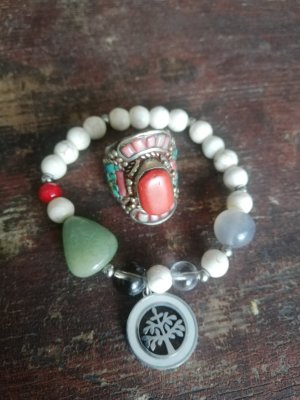 Bracelet white-sage green
