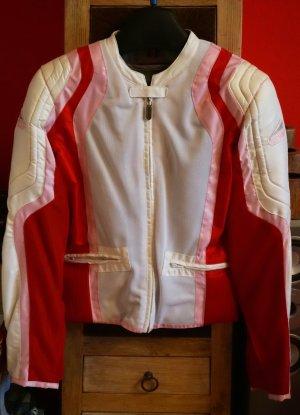 Bikerjack wit-rood Polyester