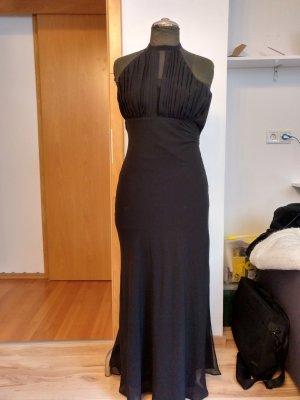 Heine Vestido de noche negro Poliéster
