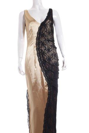 Heine Abendkleid goldfarben-schwarz Elegant
