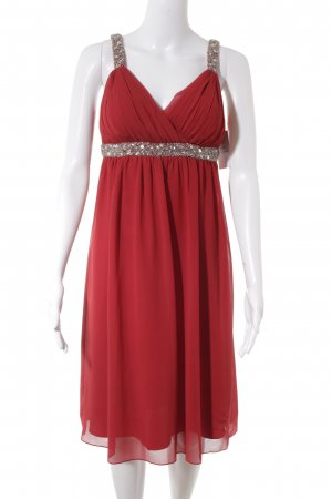 Heine Abendkleid rot Applikation