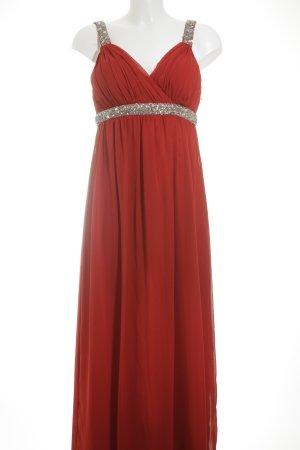 Heine Abendkleid rot-silberfarben Elegant