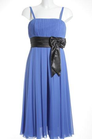 Heine Abendkleid stahlblau-schwarz Elegant