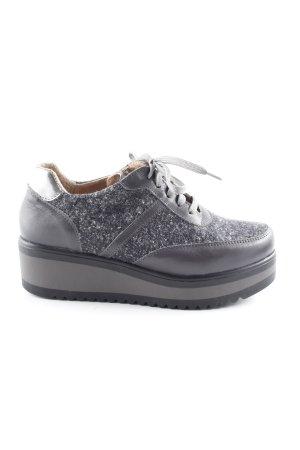 Heine Absatz Sneaker grau-dunkelgrau meliert klassischer Stil