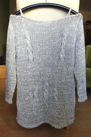 Heine Apart Impressions   Sommer-Pullover  weiß-grau