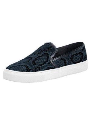 Heine - Best Connections Snakeprint-Sneaker, dunkelblau Gr. 39