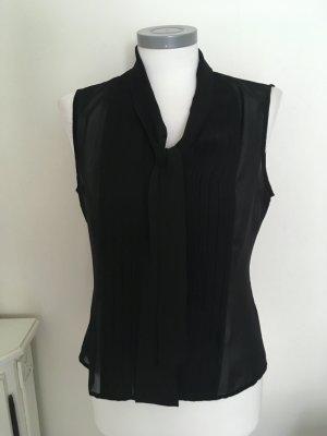 Heine Bluse Shirt Top schwarz transparent Schluppe 36 S