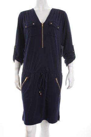 Heine Blusenkleid dunkelblau-goldfarben klassischer Stil
