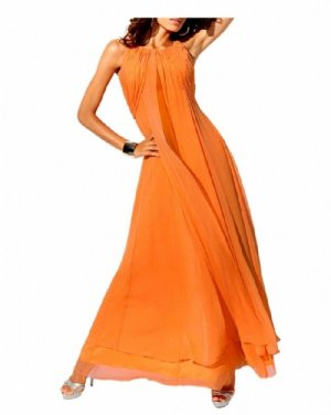 Heine Carry Allen by Ella Singh Designer-Abendkleid, orange Gr. 34