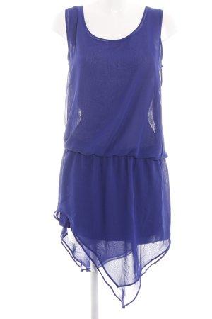 Heine Chiffon jurk blauw casual uitstraling