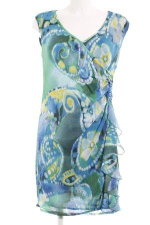 Heine Robe chiffon motif tache de couleur style décontracté