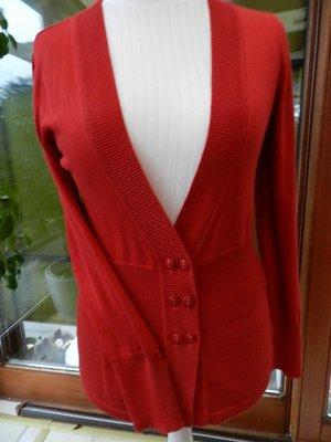 Heine Collection Strickjacke Shirtjacke Rot -  Gr.40 ungetragen