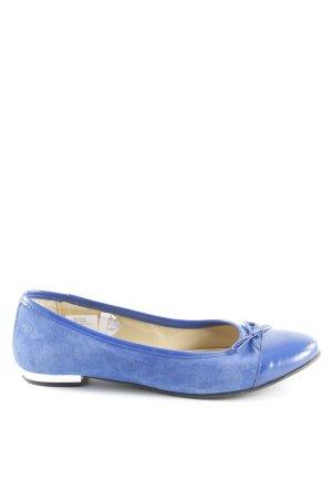 Heine faltbare Ballerinas blau-silberfarben Elegant