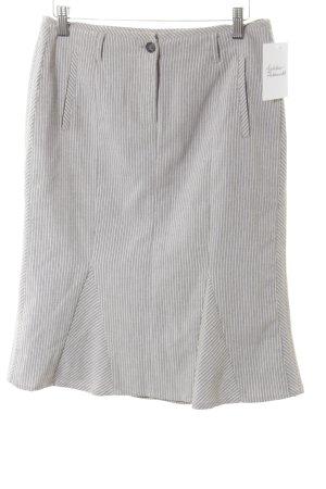 Heine Jupe évasée blanc-gris motif rayé style classique