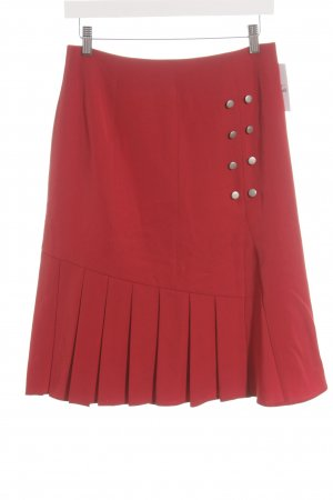 Heine Godet Skirt dark red business style