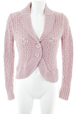 Heine Crochet Cardigan pink casual look