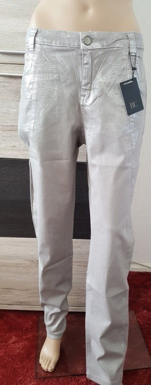 Heine Hose grau Silber Destroyed-Effekt 5-Pockets 42 NEU