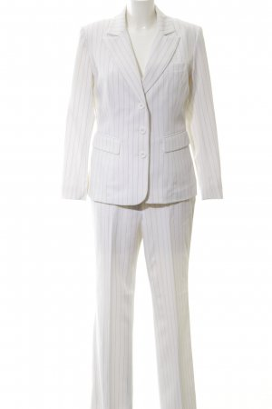 Heine Tailleur-pantalon blanc-noir motif rayé style d'affaires