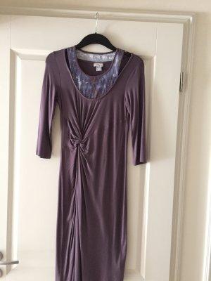 Heine Kleid Cut out Pailletten Deep purple Neu lila Knoten Np 79 Euro