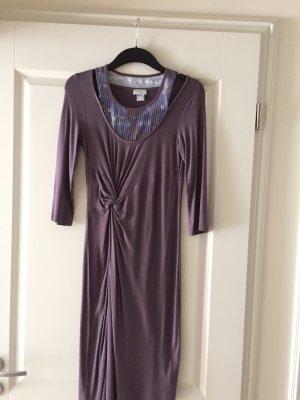 Heine Kleid Pailletten Gr. 36 3/4 Arm Neu Np 79 Euro Deep purple