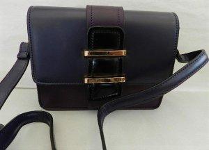 Heine Crossbody bag grey lilac-grey violet imitation leather