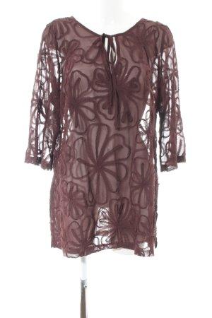 Heine Langarm-Bluse braun Street-Fashion-Look