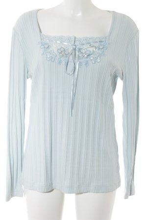 Heine Blusa de manga larga azul celeste estampado floral elegante