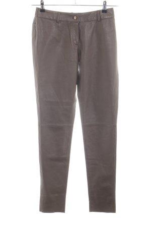 Heine Pantalone in pelle marrone stile casual
