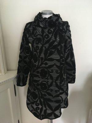 Heine Manteau en tricot blanc-noir tissu mixte