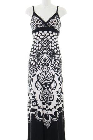 Heine Maxi-jurk zwart-wit abstract patroon casual uitstraling
