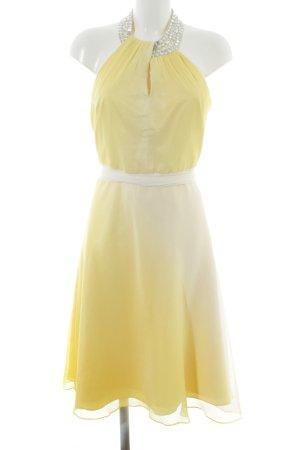 Heine Vestido de cuello Halter amarillo-blanco puro degradado de color elegante