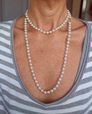 HEINE Perlenkette lange Perlen Kette Modeschmuck Weiß 104 cm