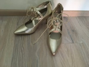 Heine Pumps Sandalen gold Gr. 37