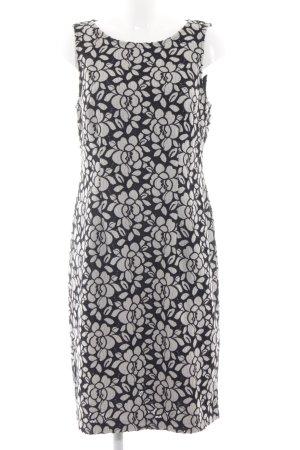 Heine Off-The-Shoulder Dress black-white flower pattern simple style