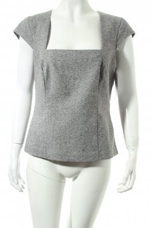 Heine Shirt grau-wollweiß Webmuster Business-Look