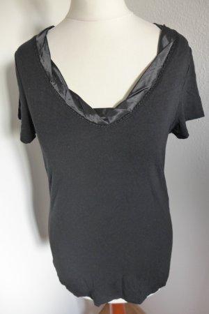 heine Shirt Oberteil Top schwarz dunkelblau, Gr. 34 wie neu