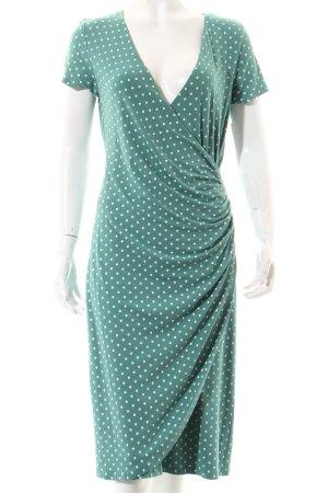 Heine Shirtkleid graugrün-weiß Punktemuster Casual-Look