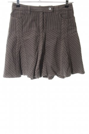 Heine Skater Skirt brown-natural white striped pattern casual look