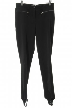 Heine Strapped Trousers black-silver-colored elegant