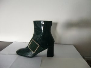 Heine Slouch Booties green leather