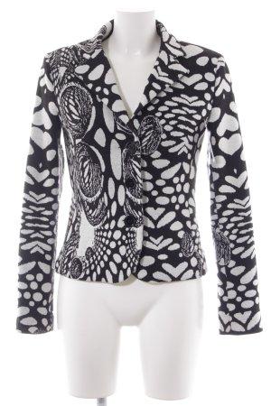 Heine Blazer tejido negro-blanco estampado con diseño abstracto look casual